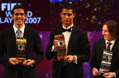 كريستيانو الكرة الذهبية 2008