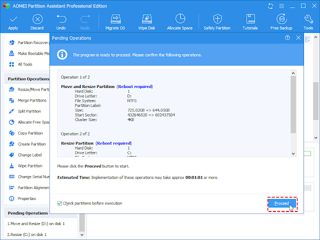 Download AOMEI Partition Assistant Pro Edition