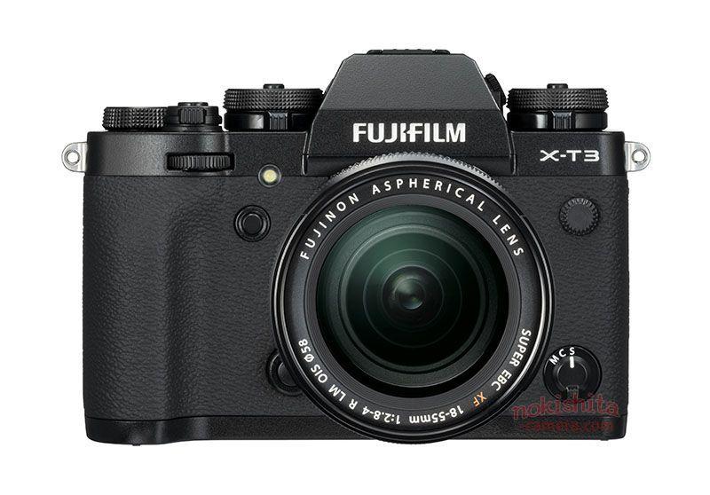 Fujifilm X-T3, вид спереди, черный