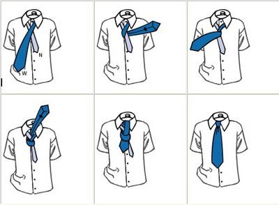 Cách thắt cà vạt kiểu học sinh