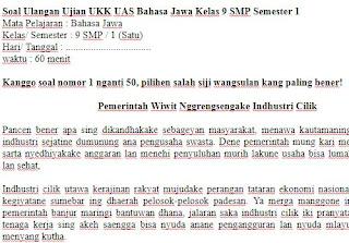 Soal-UKK-UAS-Bahasa-Jawa-Kelas-9-SMP-Semester-1