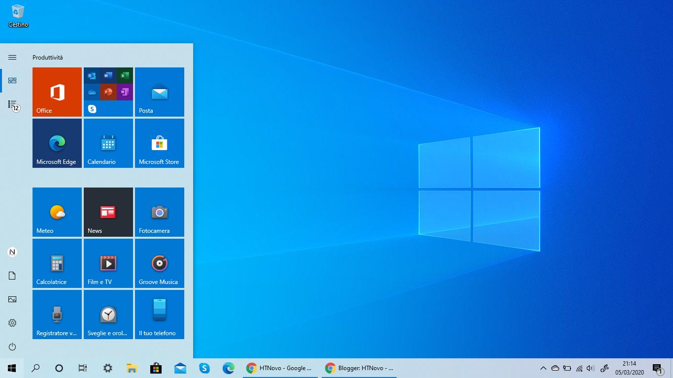 Tutte le nuove icone in distribuzione anche in Windows 10 versione 1909