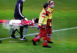 Fear grip Bundesliga as Nigerian star collapses, rushed to hospital