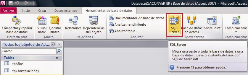 Convertir Base de Datos de ACCESS a SQL SERVER