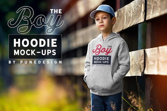 Boy Hoodie Mock-Up