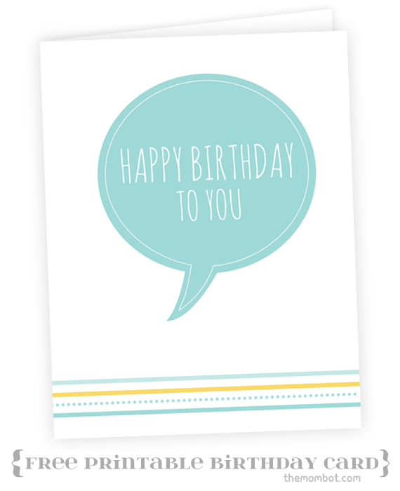 A Perfectly Organized Pool Bag Just A Girl And Her Blog: Birthday Card – Free Printable