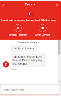 Chat LinkAja