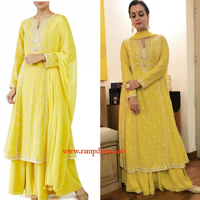 Dia Mirza in Anita Dongre for Diwali Party