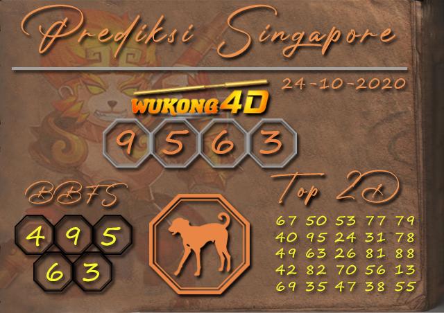 Prediksi Togel SINGAPORE WUKONG4D 24 OKTOBER 2020