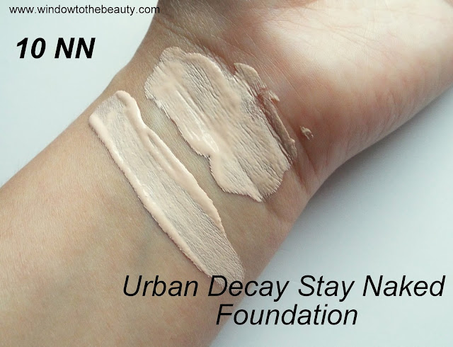 Urban Decay Stay Naked Foundation swatches