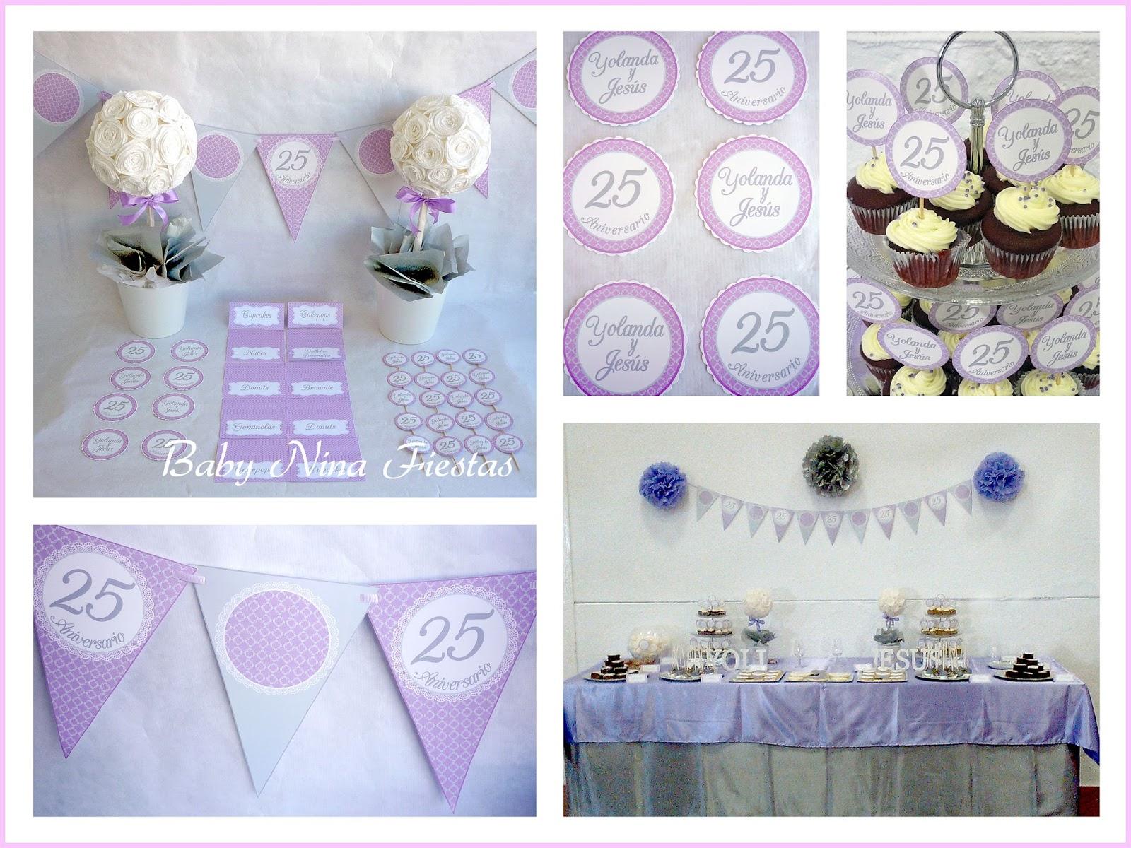 Decoracion para bodas de plata bonita decoracin de dulces - Decoracion para bodas de plata ...