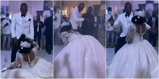 Bride goes viral as she storms the dance Floor with Amazing Dancing Skills (Video)