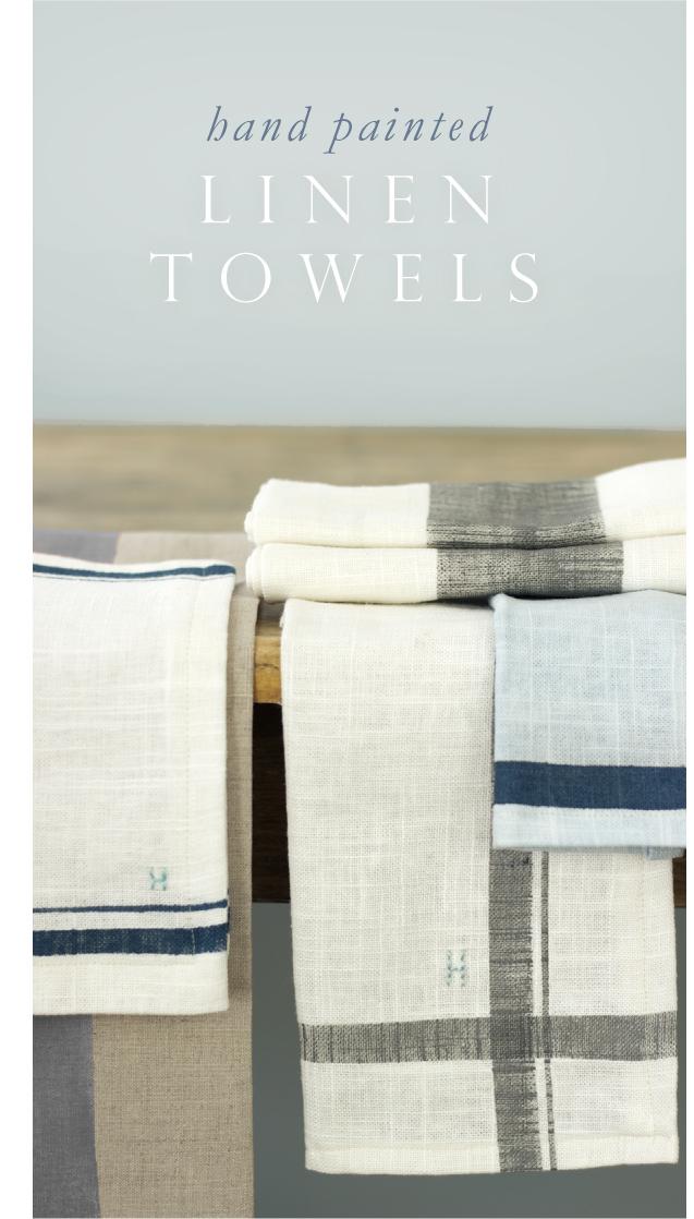 Jenny Steffens Hobick: Hand Painted Linen Kitchen Towels