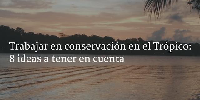 Trabajar en conservación en el Trópico: 8 conclusiones