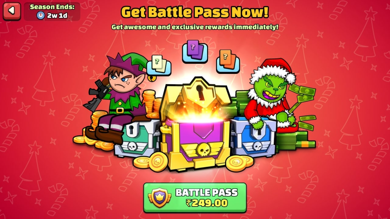 mini militia battlepass season 5 price
