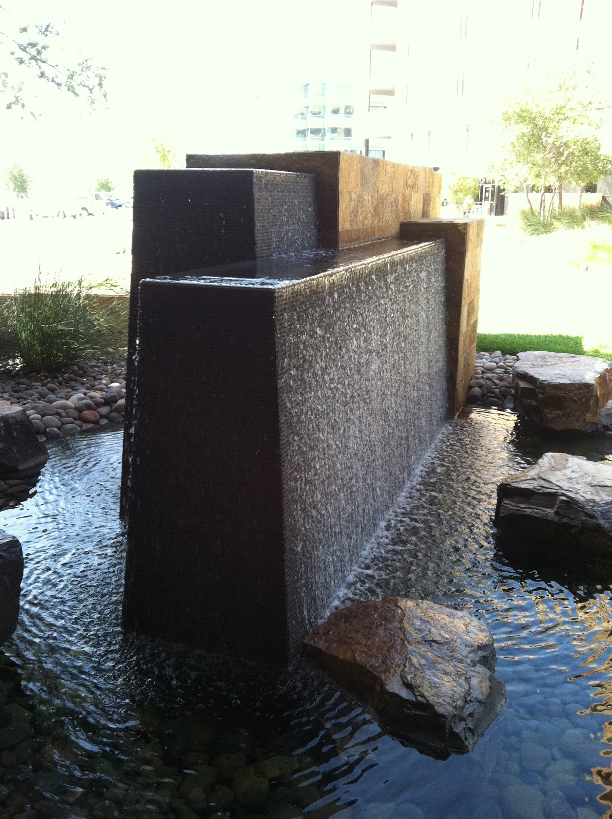 Modern fountain » Sage Outdoor Designs on Modern Backyard Water Feature id=96887