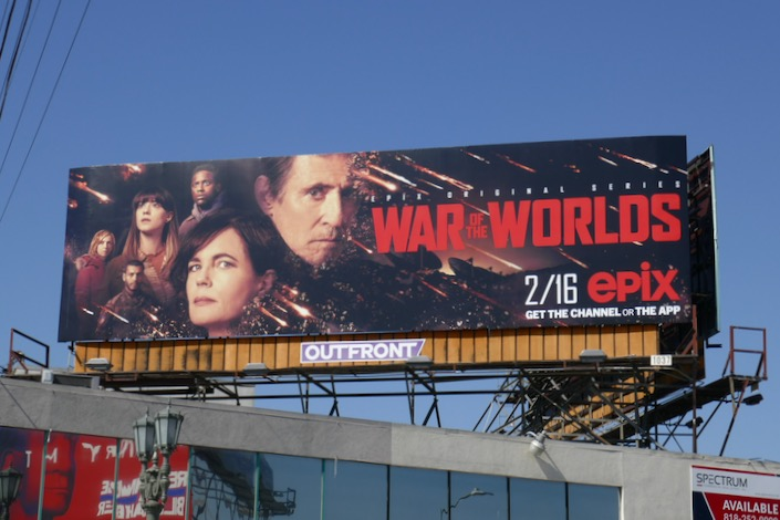 War of the Worlds TV remake billboard