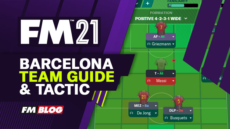 Football Manager 2021 Barcelona | Team Guide | Tactic | FM21