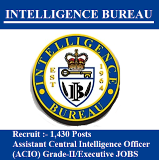 Intelligence Bureau, IB, Ministry of Home Affairs, Govt. of India, Intelligence Officer, ACIO, Graduation, freejobalert, Sarkari Naukri, Latest Jobs, Hot Jobs, ib logo