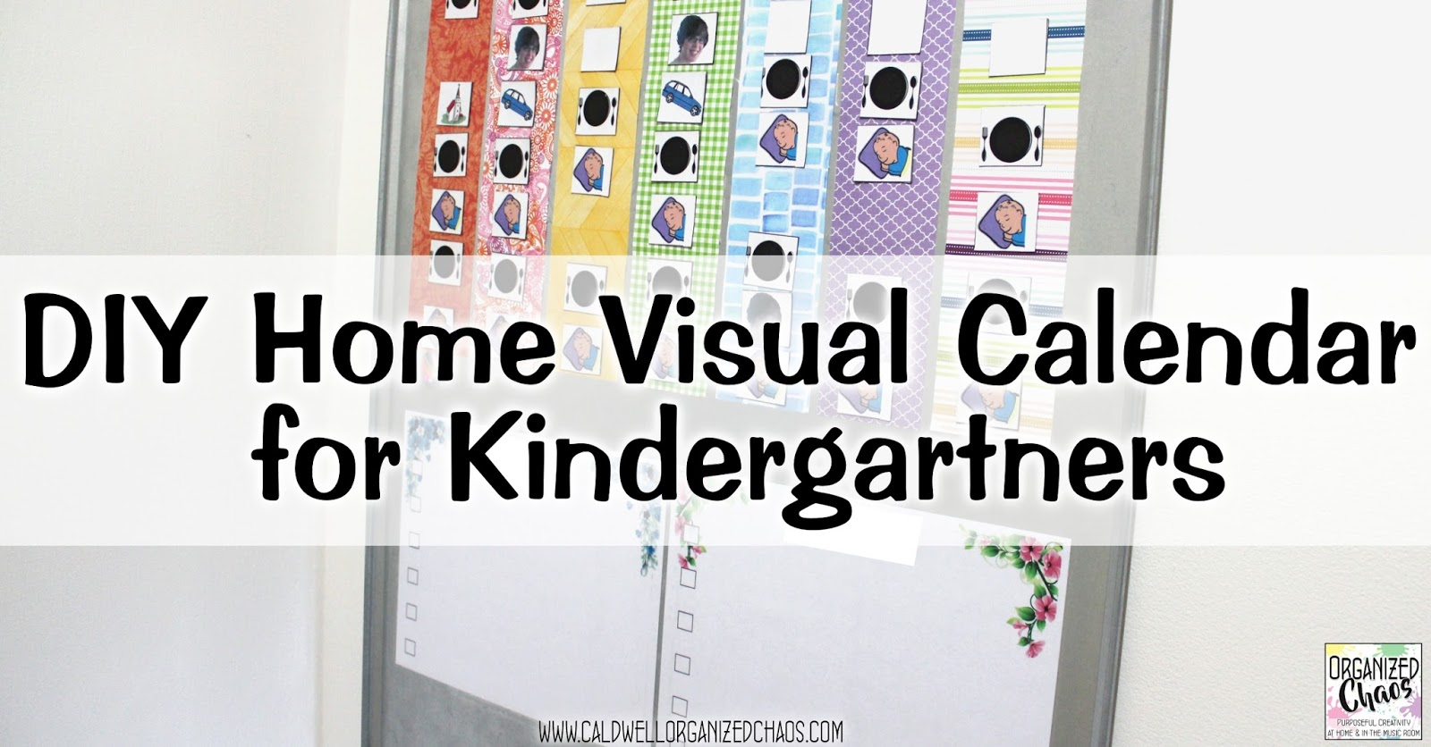 Diy Calendar For Kindergarten : Diy visual calendar for kindergartners organized chaos