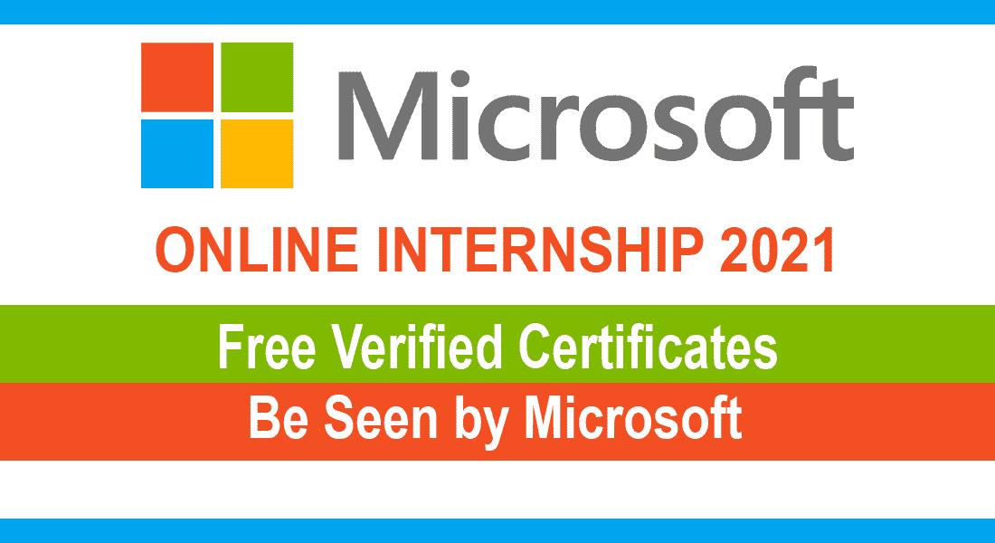 Microsoft Online Internships 2021 - احصل على شهادات رسمية معتمدة