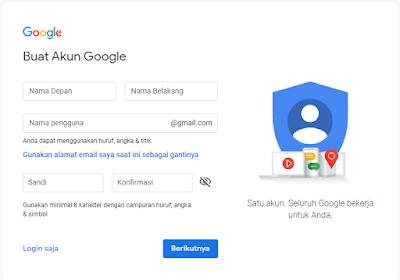 langkah pertama membuat akun gmail
