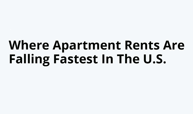 A decline in apartment rates in the USA