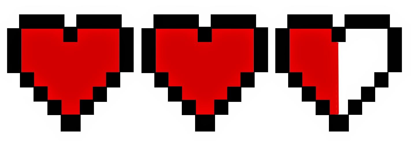 Doodlecraft Legend Of Zelda Heart Container Necklace