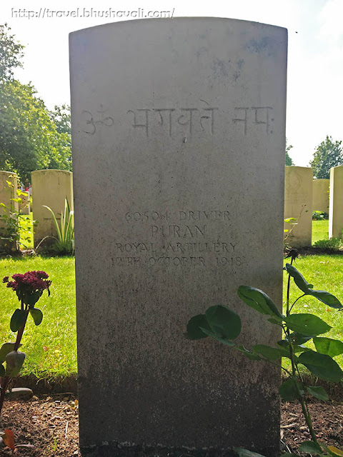 WWI Soldiers Indian Graves in Ypres reservoir cemetery