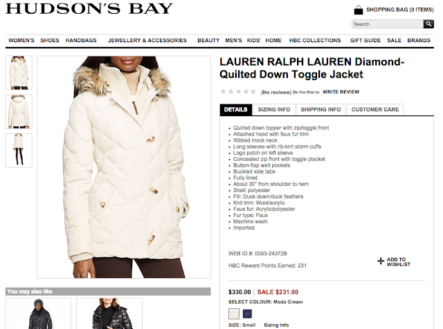 Enjoy #SimpleSavings at Hudson's Bay via RetailMeNot.ca