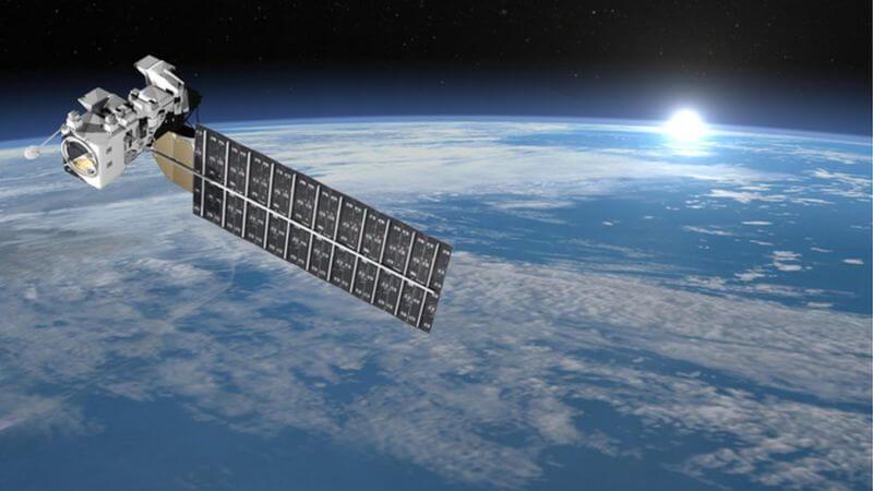 Satellite over Earth.