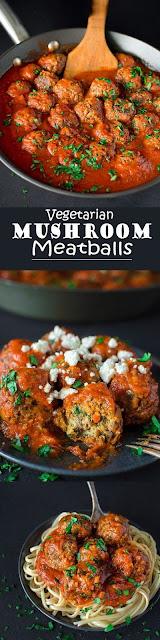 Vegetarian Mushroom Meatballs