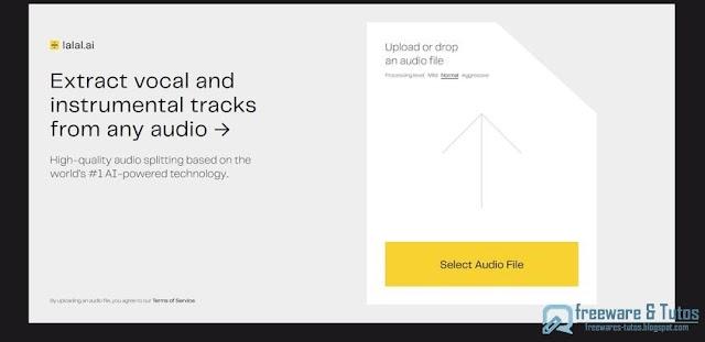 Lalal.ai : un service en ligne pour dissocier les parties vocales et instrumentales d'un fichier audio