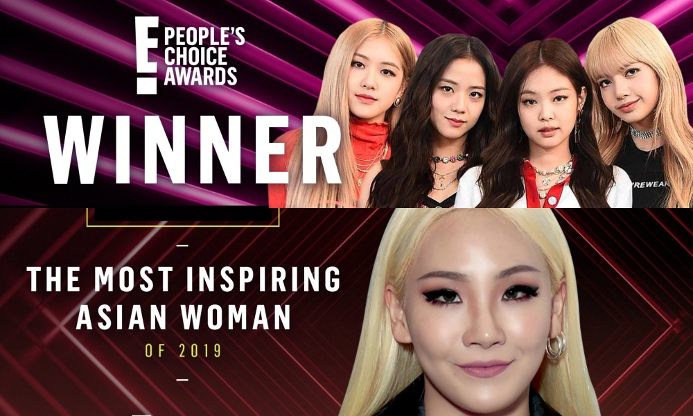 BLACKPINK and CL Wins The Awards at '2019 E! People's Choice Awards'