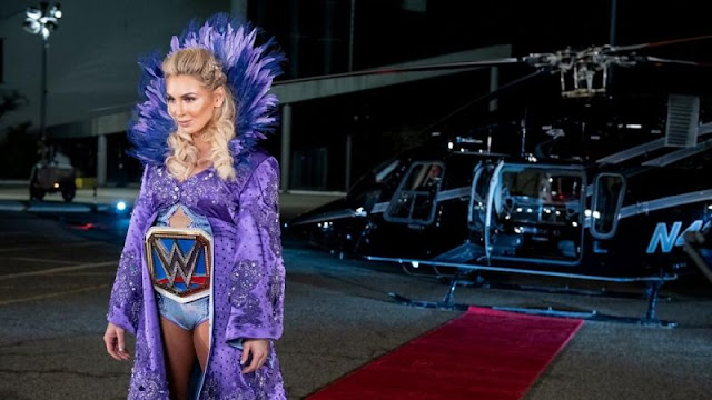The Queen Charlotte talks about her epic helicopter entrance at WrestleMania 35