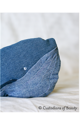 DIY Denim Whale | Recycled Jeans | CustodiansofBeauty.blogspot.com