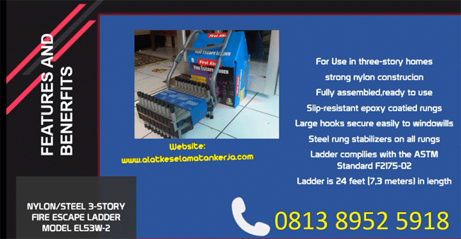 Escape Ladder Tangga Darurat Feature Benefits