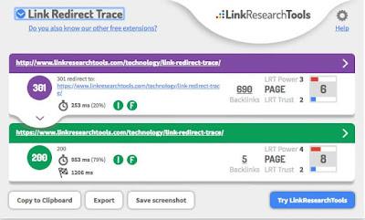 Pantallazo-de- Link- Redirect -Trace