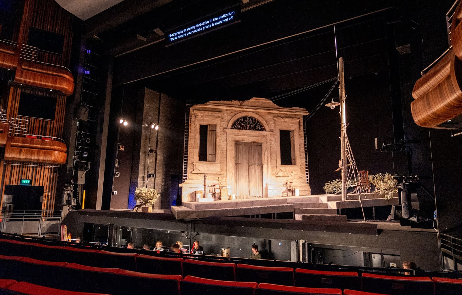 Glyndebourne's set for L'elisir d'amore at the Marlowe Theatre, Canterbury