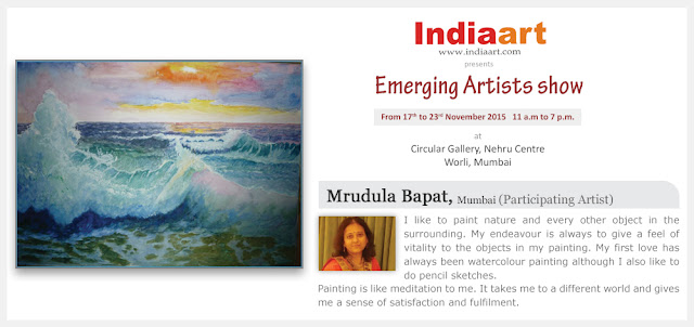 Artist Statement by Mrudula Bapat - Emerging Artists show by Indiaart.com
