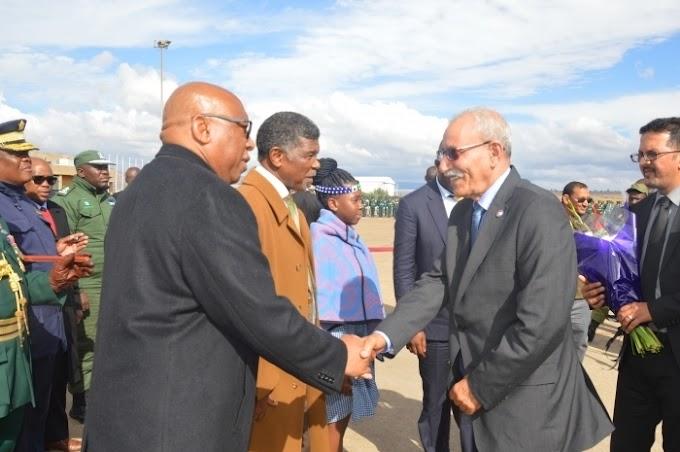 مملكة ليسوتو تجدد التأكيد على دعمها للجمهورية الصحراوية والإلتزام بالعلاقات الثنائية بين البلدين والشعبين الشقيقين.