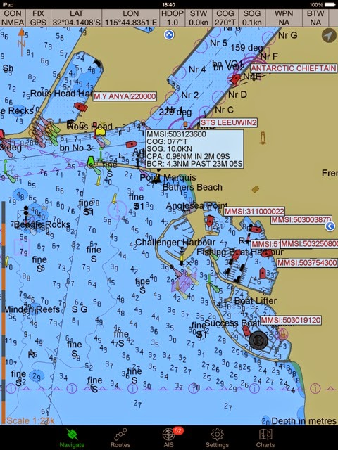 Yacht Zen Again: CM93 Charts and GoogleEarth Imagery on iPad