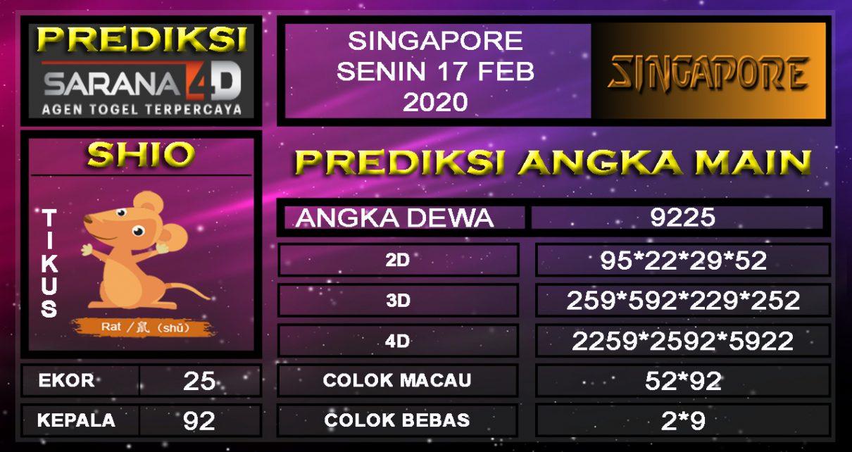 Prediksi Togel Singapura 17 Februari 2020 - prediksi angka main