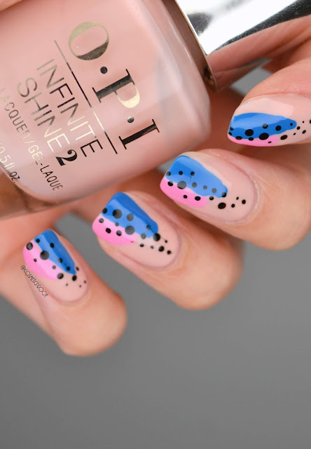 Dotted Abstract Nail Art