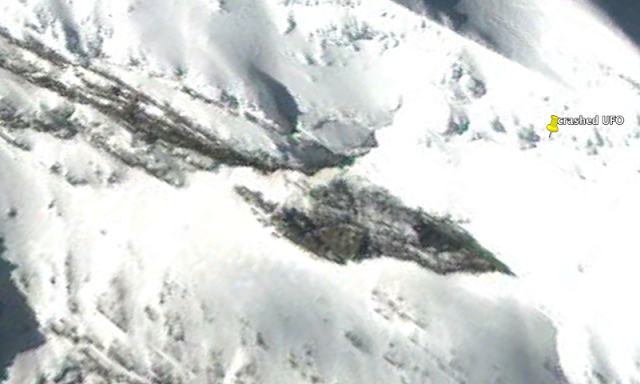 UFO Crash On Snowy Island In South Pole Region, Google Earth Map Screen%2BShot%2B2019-06-12%2Bat%2B11.57.36%2BPM