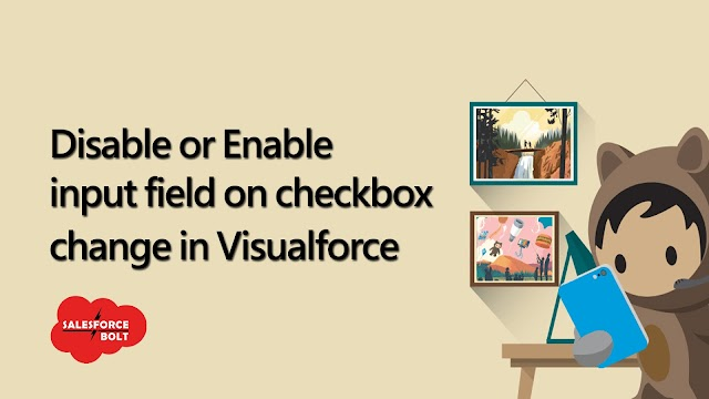 Disable or Enable input field on Checkbox change in Visualforce Page Salesforce