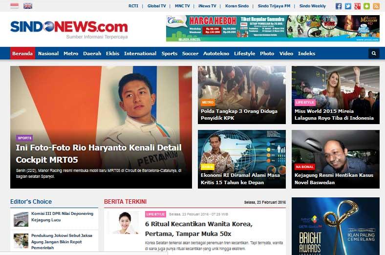 Sindonews.com   Sumber Informasi Terpercaya