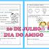QUADRINHA DO AMIGO E ATIVIDADES - EDUCAÇÃO INFANTIL 5 ANOS