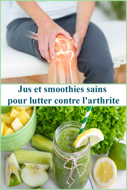 Jus et smoothies sains pour lutter contre l'arthrite