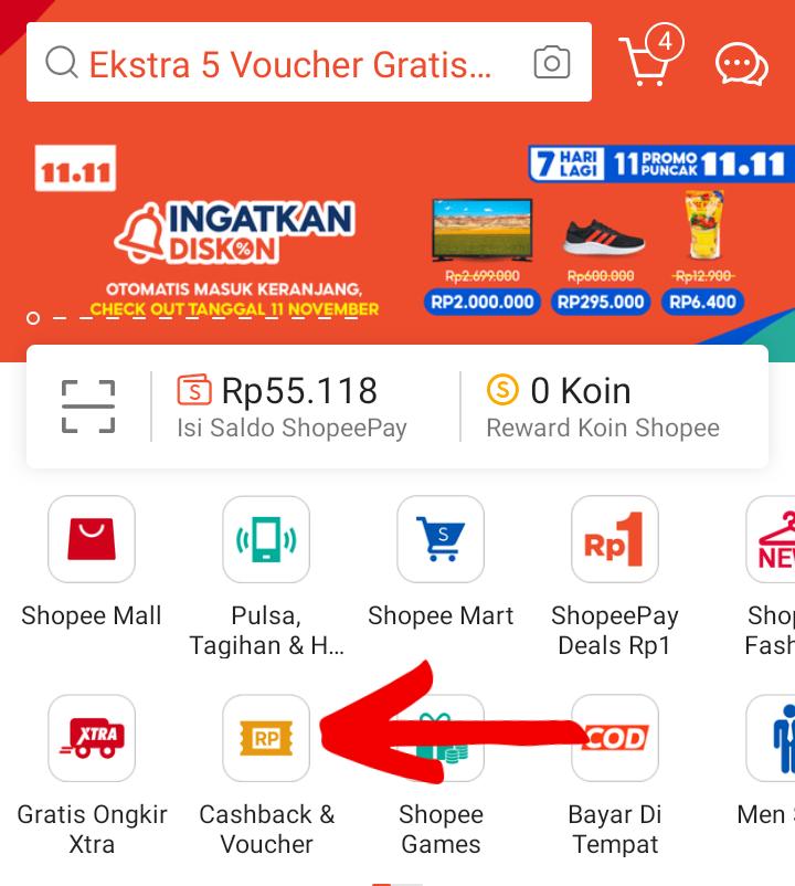 Cara Mendapatkan dan Menggunakan Voucher Gratis Ongkir Min 0 / Cashback di Shopee